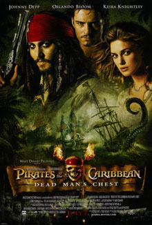 cartaz de Piratas do Caribe: O Baú da Morte
